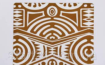 Коврик для йоги Замшевый каучуковый двухслойный 3мм Record FI-5662-40 (размер 1,83мx0,61мx3мм, бежевый), фото 3