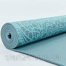 Коврик для йоги и фитнеса PVC двухслойный 6мм SP-Planeta DOILY FI-0185-1 (размер 173смx61смx6мм, серый), фото 3