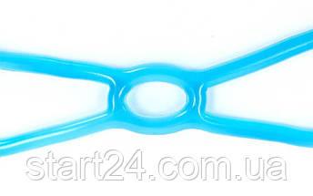 Эспандер для фитнеса Икс гелевый PS FI-1042-H (TPR, силикон, синий, нагрузка высокая), фото 3