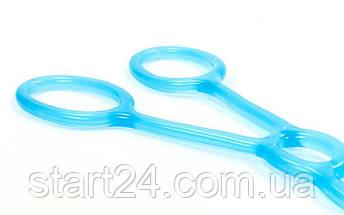 Эспандер для фитнеса Икс гелевый PS FI-1042-H (TPR, силикон, синий, нагрузка высокая), фото 2