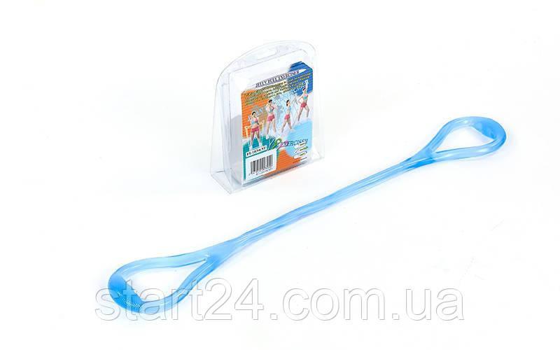 Эспандер гелевый плечевой 1жгут PS FI-1034-M (гель-силикон, синий, нагр.средняя,l-67см, вес-180г)