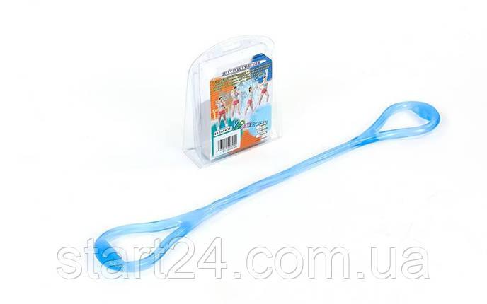 Эспандер гелевый плечевой 1жгут PS FI-1034-M (гель-силикон, синий, нагр.средняя,l-67см, вес-180г), фото 2
