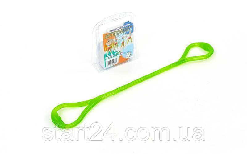 Эспандер гелевый плечевой 1жгут PS FI-1034-H (гель-силикон, зеленый, нагр.высокая,l-67см, вес-180г)