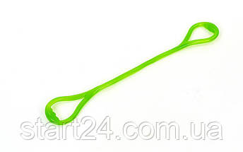 Эспандер гелевый плечевой 1жгут PS FI-1034-H (гель-силикон, зеленый, нагр.высокая,l-67см, вес-180г), фото 2