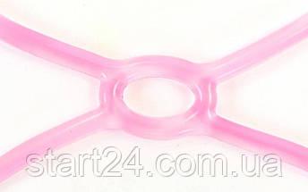 Эспандер для фитнеса Икс гелевый PS FI-1042-L (TPR, силикон, розовый, нагрузка низкая), фото 3