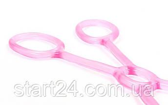 Эспандер для фитнеса Икс гелевый PS FI-1042-L (TPR, силикон, розовый, нагрузка низкая), фото 2