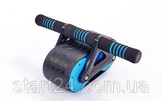 Ролик для пресса FI-5728 (пластик, металл, р-р 37х23х15,5см, серый-синий)
