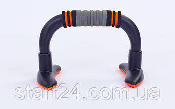 Упоры для отжиманий (2шт) DCF-18 PUSH-UP BAR (пластик,резина, ручка неопрен, р-р 23x15см), фото 2