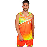 Форма для легкой атлетики мужская (оранжевый-лимонный)