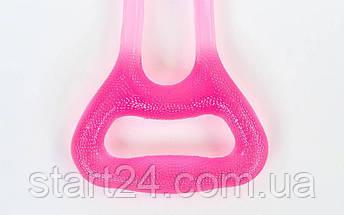 Эспандер гелевый плечевой 2жгута PS FI-1037-L (гель-силикон, розовый, нагрузка низкая), фото 3