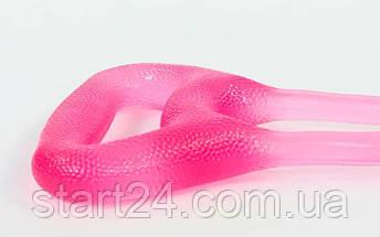 Эспандер гелевый плечевой 2жгута PS FI-1037-L (гель-силикон, розовый, нагрузка низкая), фото 2