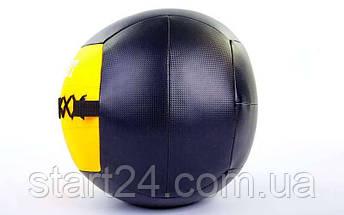 Мяч волбол для кроссфита и фитнеса 6кг Zelart WALL BALL FI-5168-6 (PU, наполнитель-метал. гранулы, d-33см, желтый), фото 2