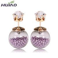 Серьги-пусеты Mise en Dior, фиолетовые. Супер-классные НОВИНКИ!