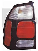 Фонарь задний для Mitsubishi Pajero Sport '00-08 левый (DEPO) на крыле, красно-белый