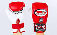 Снарядные перчатки кожаные TWINS TBGL-6F-RD (р-р M-XL, красный)