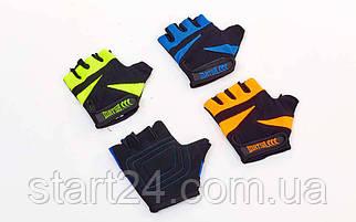 Перчатки для фитнеса MATSA MA-6235 (PVC, PL, открытые пальцы, р-р XS-L, цвета в ассортименте)