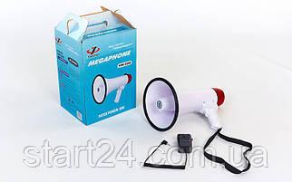 Гучномовець HW-20B-A-USB (пластик, d-19,5 см, l-32,3 см, 30W, з мікрофоном, на бат (6C),USB вхід)
