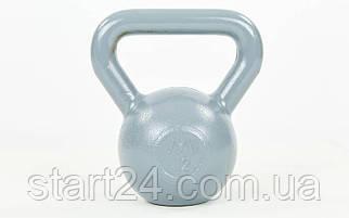 Гиря чугунная окрашенная серая UR TA-0182-12 12кг (чугун, серый)