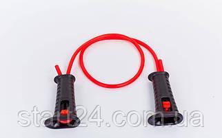 Эспандер трубчатый с ручками регулируемый по длине PS FI-1801 (латекс.жгут, d-9,5x2мм, l-160см, красный)