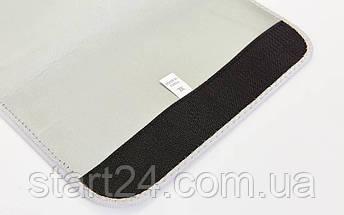 Пояс для похудения из композитной ткани с быстрым нагревом из серебряного волокна ST-2148-XL  (р-р 28см x 110см x 3мм, черный), фото 3