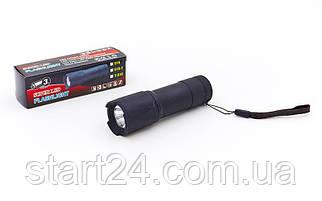 Фонарик ручной светодиодный BL-516-1 (пластик, 1 светодиод, на батарейках (3 AAA), l-10,5см)