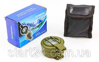 Компас магнитный в металлическом корпусе K60 (d-60мм, металл, пластик, цвета в ассортименте)