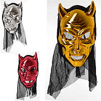 Маска череп металлик для праздника, тематической вечеринки, хеллоуина, MK 3521