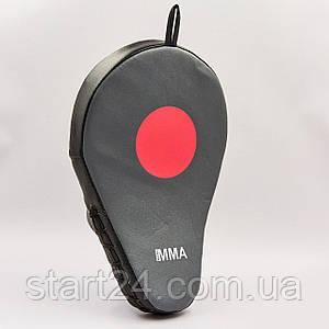 Лапа Изогнутая из PU (1шт) EVERLAST 7408B MMA MANTIS MITTS (р-р 28x18x10см, черный)
