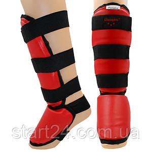 Защита для голени и стопы кожвинил UR A00189 (р-р S-XL, красный)