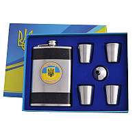 Набор фляга 4 стаканчика  Украина