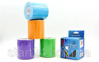 Кинезио тейп в рулоне 7,5см х 5м (Kinesio tape) эластичный пластырь BC-4863-7,5 (цвета в ассортимен)