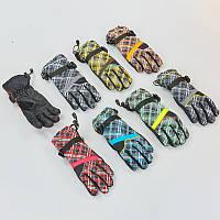 Перчатки горнолыжные теплые женские B-7702 (р-р M-L, L-XL, цвета в ассортименте, уп.-12пар, цена за 1пару)