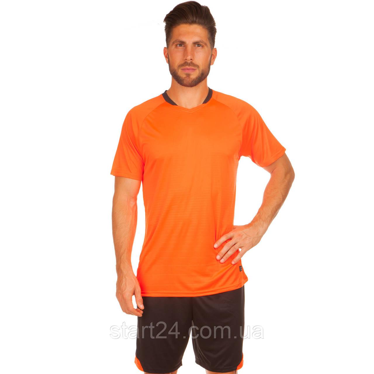 Футбольная форма LD-5022-6 (PL, р-р M-3XL, рост 155-185, оранжевый-черный)