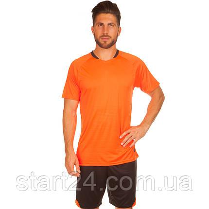 Футбольная форма LD-5022-6 (PL, р-р M-3XL, рост 155-185, оранжевый-черный), фото 2