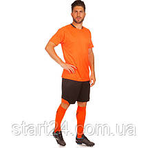 Футбольная форма LD-5022-6 (PL, р-р M-3XL, рост 155-185, оранжевый-черный), фото 3