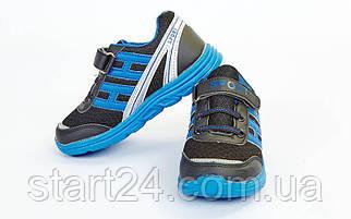 Кроссовки подростковые SPORT OB-4106-BKBL-MIX (р-р 31-36) (верх-PL, PVC, подошва-EVA, черный-синий)