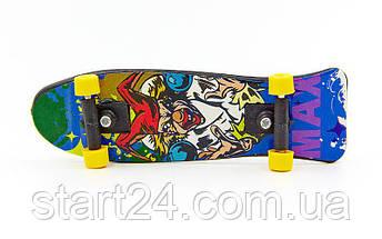 Фингерборд-мини скейт 2010C2 (1фингерборд,2зап.колеса,1отвер,2винтика,2зап.подвески,пластик,металл), фото 2