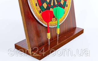 Мишень для игры в дартс настольная из прессованной бумаги Baili 6in BL-401 (d-16cм,в компл. 6 дротиков), фото 3