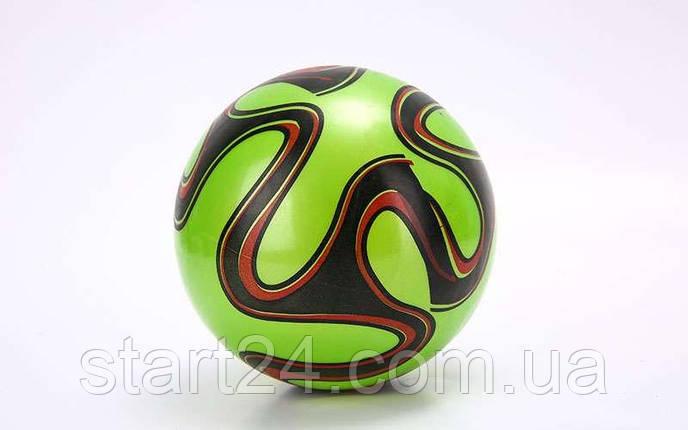 Мяч резиновый BA-6012 EURO 2016 (PVC, вес-70г, р-р 16-25см (6-10in), белый, синий, красный, фиолетовый,зеленый), фото 2