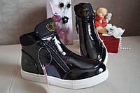 Демисезонные, осенние черные ботинки на девочку, 37