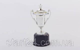 Кубок спортивный с ручками и крышкой STAR C-855 (металл, пластик, h-17см, b-8см, d чаши-5см,золото, серебро, бронза)