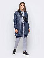 Женский бомбер, куртка трансформер play S 40-42 синий серый a19APw90_3p