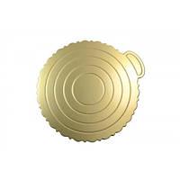 Подложка круглая для торта Empire 220 мм серебро 0289