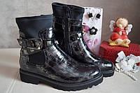Демисезонные, черные осенние ботинки на девочку, 33.37.38