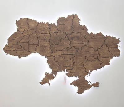 Карта Украины из подсветкой