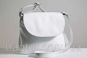 Женская кожаная сумка кросс-боди 05 белый флотар 01050102