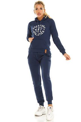 Теплый женский спортивный костюм 2879  синий, фото 2