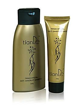 Набор TianDe с экстрактом женьшеня: шампунь+маска для волос, фото 2
