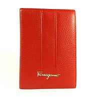 Обложка для паспорта кожаная женская Salvatore Ferragamo 4384 красная, расцветки