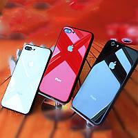 Стеклянный чехол iPhone 6/6s/7/8/Plus/10/X/XS/Max.    Айфон Стекло, glass silicone, leather, case, силиконовый